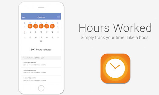 Hours Worked app mockup